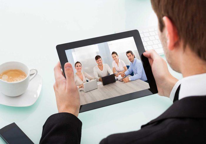Virtual meeting facilitation in progress